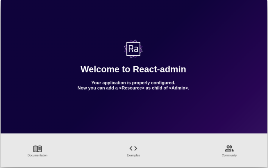 Welcome to React Admin